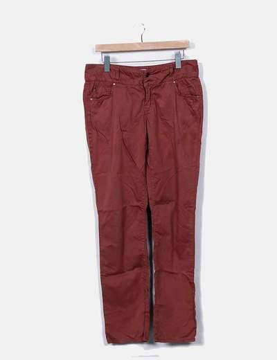 Pantalon marron droit Vero Moda