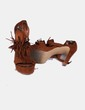 Sandalias tacón marrones con flecos Marypaz