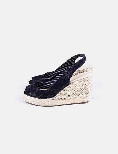 Sandales noires compensées NoName