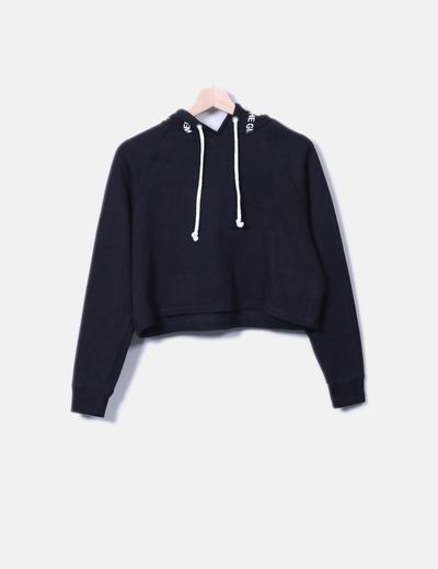 Sudadera negra con capucha H&M
