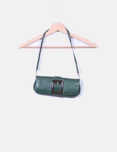 Bolso mini verde detalle hebilla Ella