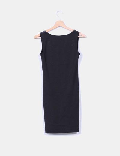Vestido mini negro combinado
