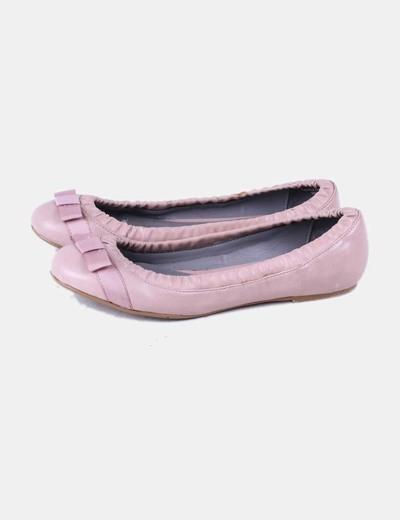 571f9bd7713 Pull Bear Bailarina rosa palo drapeada (descuento 79%) - Micolet
