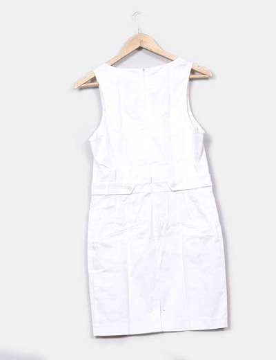 Fracomina Robe blanche coupe droite (réduction 85%) - Micolet 2531ea5f3942
