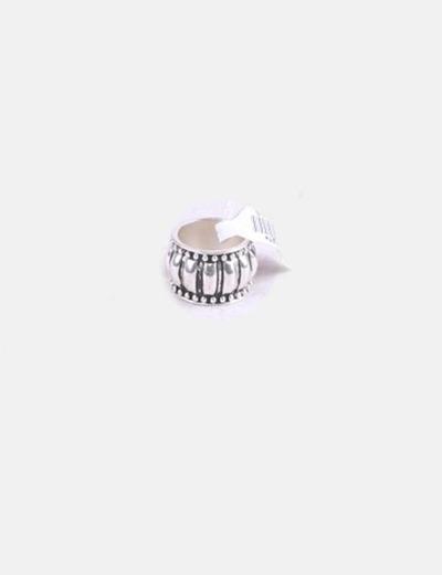 Maxi anillo plateado