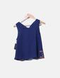 Blusa azul marina con bordados Zara