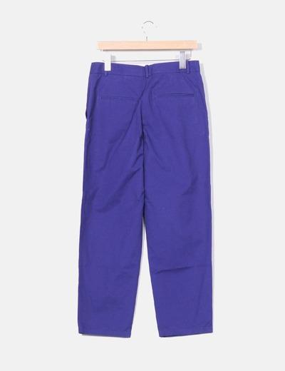 Pantalon chino azul klein