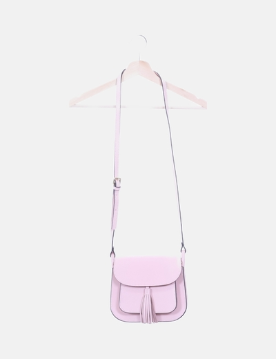 Bolso bandolera rosa palon con borla