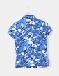Blusa azul jaspeada manga corta Oneill