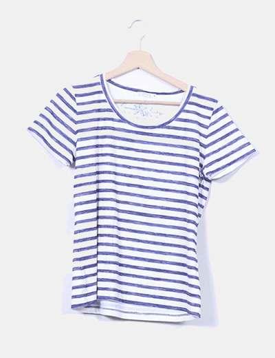 Camiseta blanca con rayas azules Lloyd's