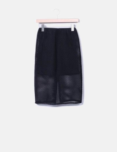 Jupe noire mesh Suiteblanco