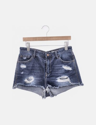 Shorts ripped denim