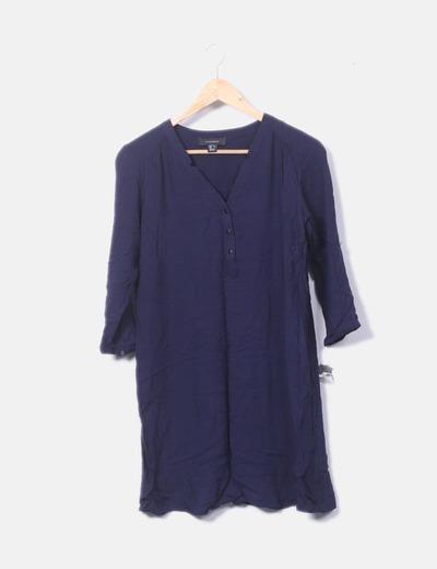 Vestido azul de gasa