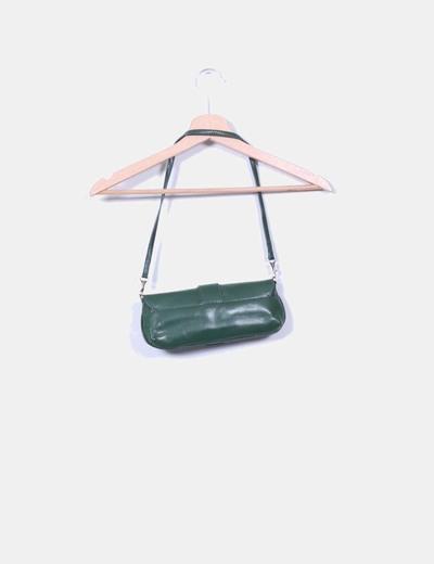 Bolso mini verde detalle hebilla