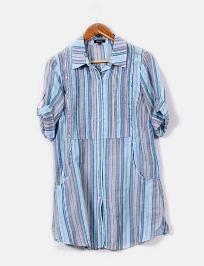 Camisola  de rayas tonos azules y grises Suiteblanco