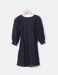 Vestido negro con crochet  H&M