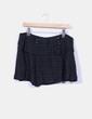 Mini falda negra texturizada Mango