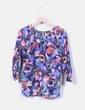 Blusa floral con bolsillo H&M
