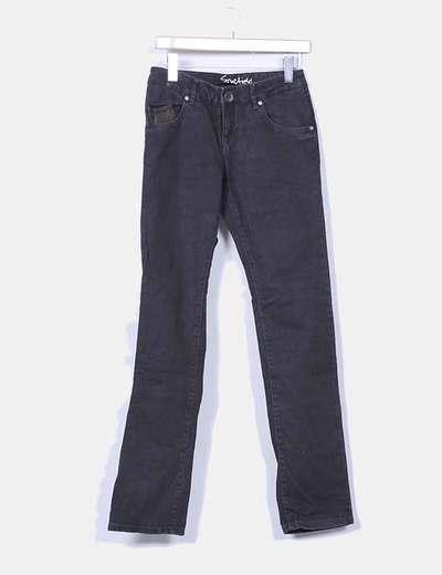Jeans denim recto negro Springfield
