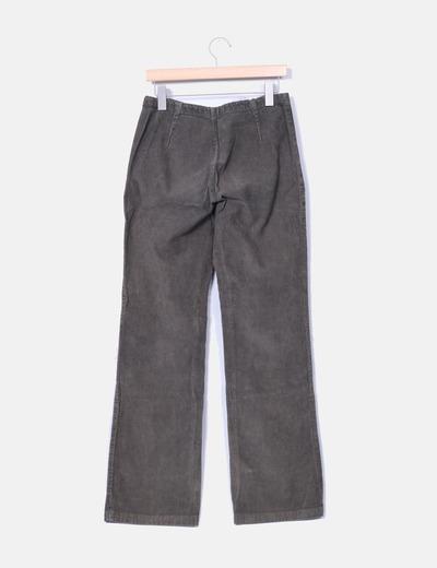 Pantalon bootcut pana verde