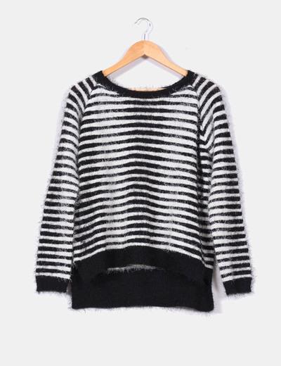6c3b0b844809 Brave Soul Jersey blanco y negro de rayas (descuento 41 %) - Micolet
