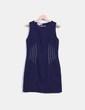 Vestido azul marino de piqué El Corte Inglés