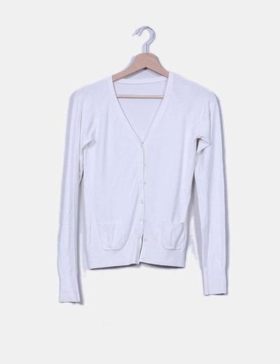 Chaqueta tricot blanca NoName