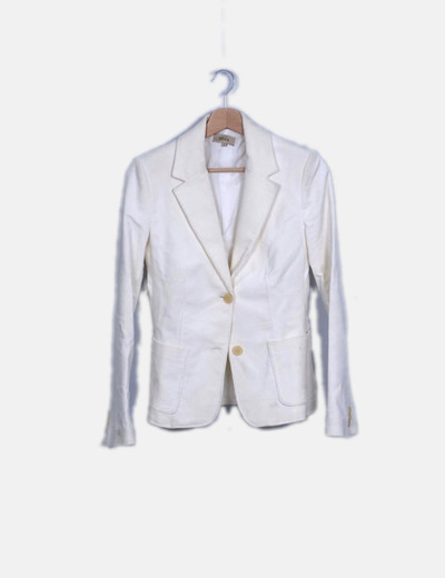 Conjunto de traje de pana blanco