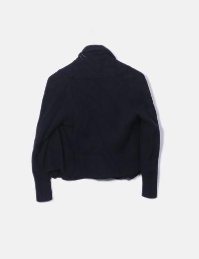 Jersey negro de lana cashmere