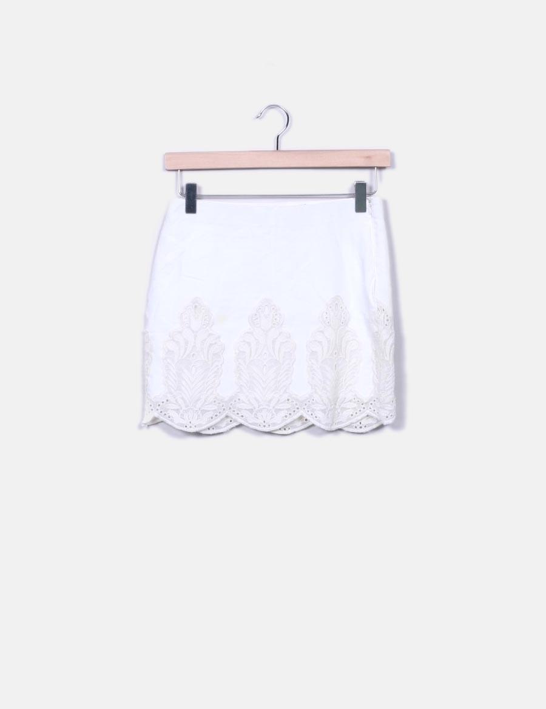 a87c9163e blanca baratas Zara Minifalda Faldas online crochet dfwgdqYvI for ...