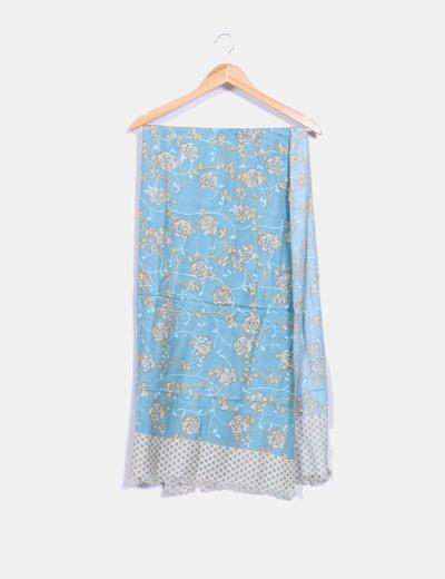 Wanda Écharpe bleu imprimé floral (réduction 81%) - Micolet fdb439c921a2