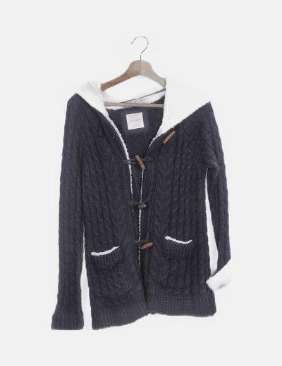 Chaqueta azul tricot