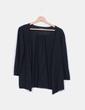 Chaqueta negra tricot mangas abullonadas Cloche