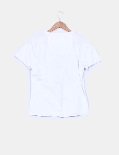 Camiseta blanca print ride your life