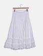 Maxi falda blanca con volantes NoName