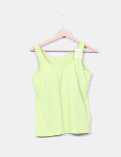 Camiseta verde pistacho con sujetador incorporado Tex Woman