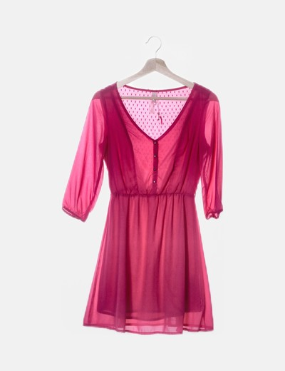 Vestido rosa de gasa