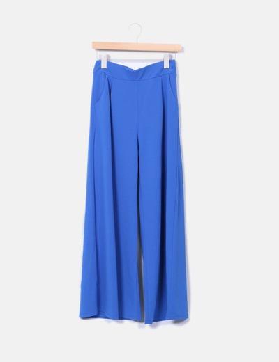 Pantalón palazzo azul NoName