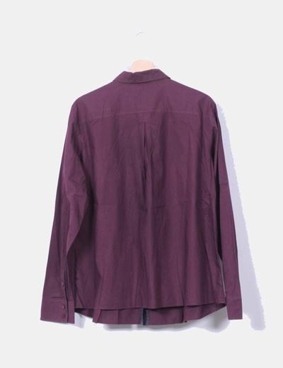 Camisa burdeos manga larga