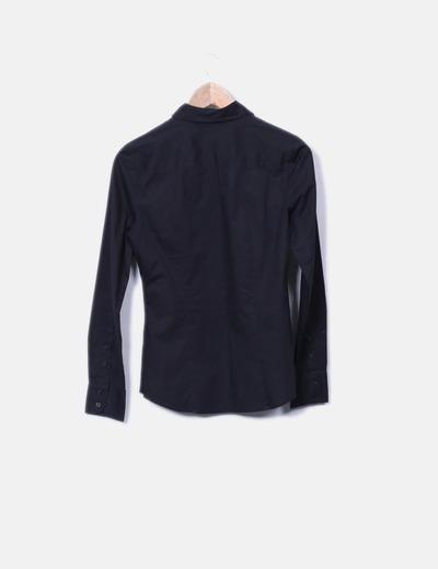 Camisa negra basica de manga larga