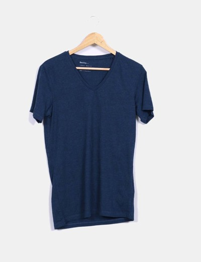 Camiseta azul Bershka