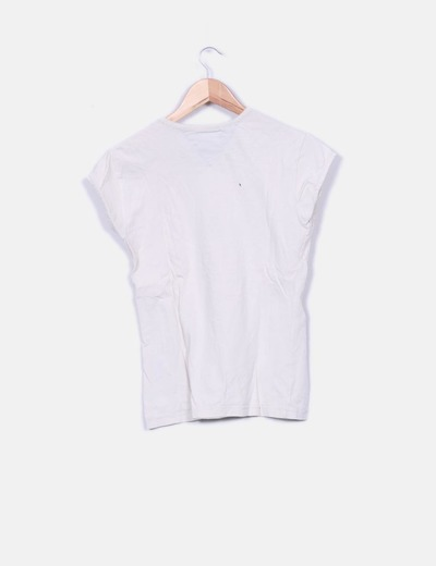 Camiseta beige print