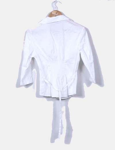 Blusa blanca manga francesa