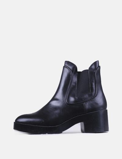 Zara Bottines noires avec élastique (réduction 70%) - Micolet c2eb00095017