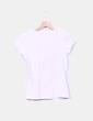 Camiseta rosa palo print mariposa con strass Zara