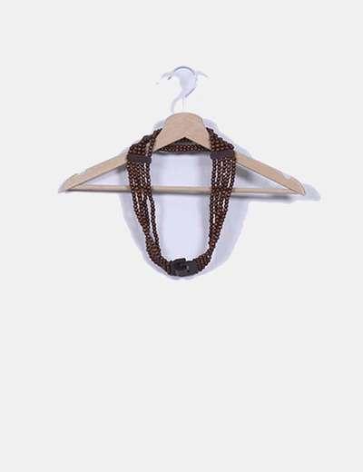 Cinturón abalorios de madera NoName