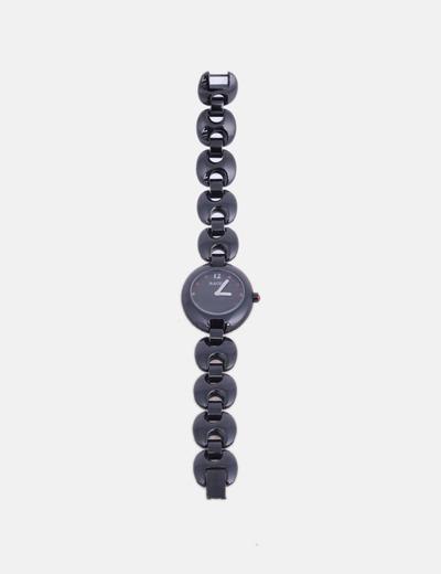 Reloj analógico negro