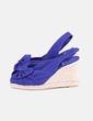 Sandales bleues compensées Castañer