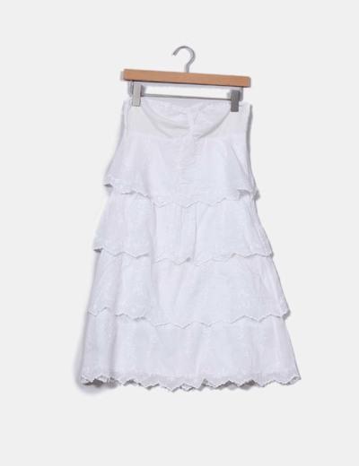 2aaefcf2d Mango Vestido volantes blanco bordados florales (descuento 80 ...