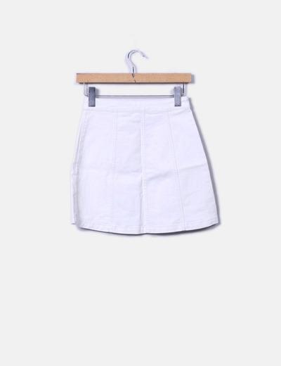 76750e3e93 H M Mini falda blanca denim botones (descuento 68%) - Micolet